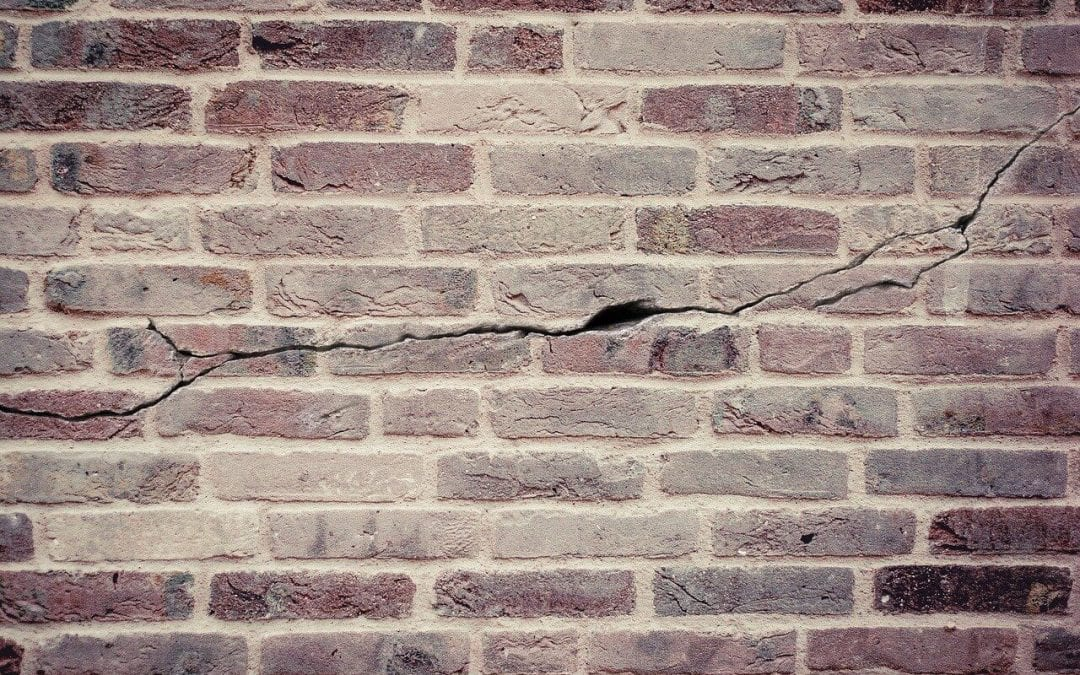 signs of structural problems include cracks in exterior walls